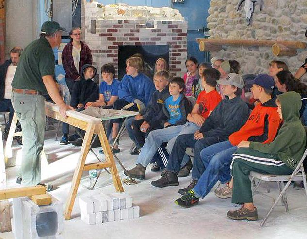 Homeschoolers-asking-questions-about-masonry